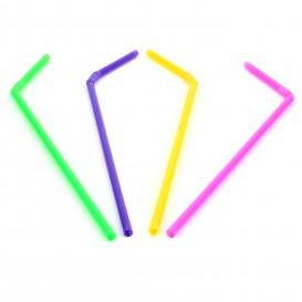 Plastic Straw Flexible PS Ø0,5cm 21cm (20.000 Units)