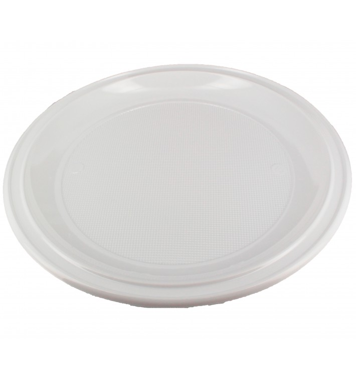 Plastic Plate PS for Pizza White 28 cm (100 Units)