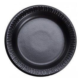 "Foam Plate ""Quiet Classic"" Laminated Black Ø18 cm (1.000 Units)"