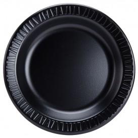 """Foam Plate """"Quiet Classic"""" Laminated Black 23 cm (125 Units)"""