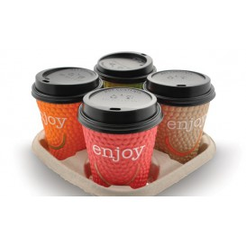 Paper Cup Carrier 4 Slots (220 Units)