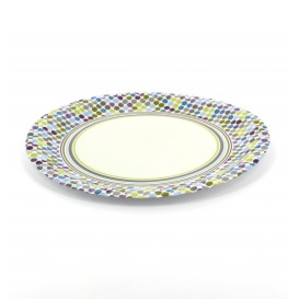 "Paper Plate ""Rayas y Topos"" Design 18cm (12 Units)"