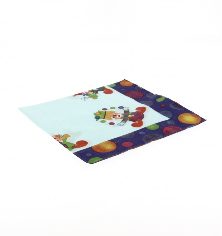 Paper Napkin Clown Design 33x33cm (500 Units)