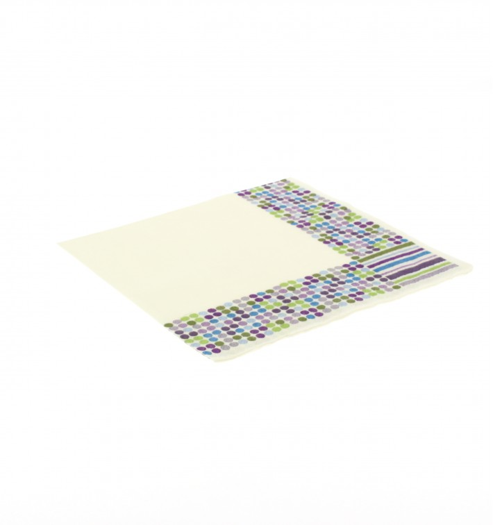Paper Napkin Stripes and Moles Design 33x33cm (500 Units)
