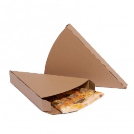 Corrugated Pizza Slice Box Kraft Takeaway (350 Units)
