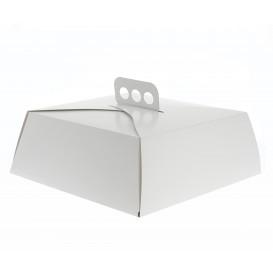 Paper Cake Box Square Shape White 30,5x30,5x10cm (50 Units)