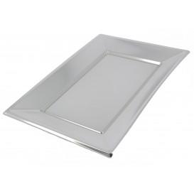 Plastic Tray Silver 33x23cm (360 Units)