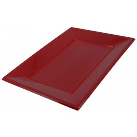 Plastic Tray Burgundy 33x22,5cm (3 Units)