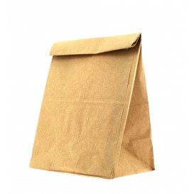 Paper Bag without Handle Kraft Brown 12+8x24cm (25 Units)