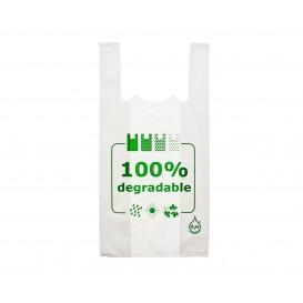 Plastic T-Shirt Bag 100% Degradable 40x60cm (200 Units)