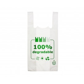 Plastic T-Shirt Bag 100% Degradable 35x50cm (5000 Units)