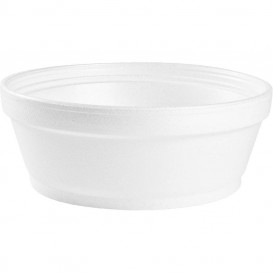 Foam Container White 8Oz/240ml Ø8,9cm (50 Units)