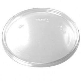 Plastic Flat Lid Clear Ø11cm (100 Units)