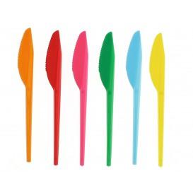 Plastic Knife PS Fuchsia 16,5 cm (900 Units)