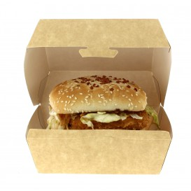 Paper Burger Box Kraft XXL 14,5x14,5x8cm (25 Units)