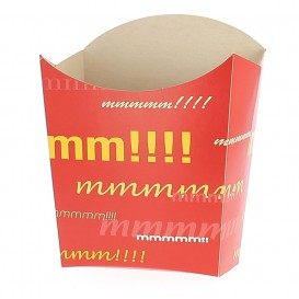 Paper French Fries Scoop Container Medium size 8,2x3,5x12,5cm (25 Units)