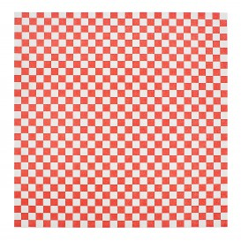 Paper Food Wrap Grease-Proof Red 31x31cm (1000 Units)