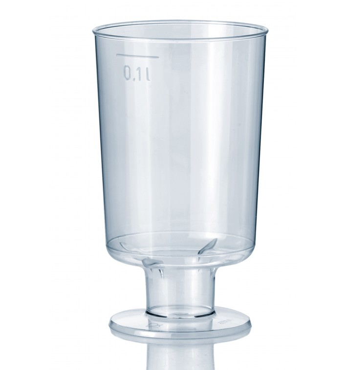 Plastic Stemmed Glass 100 ml (15 Units)