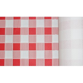 Paper Tablecloth Roll Red Checkers 1x100m. 40g (1 Unit)