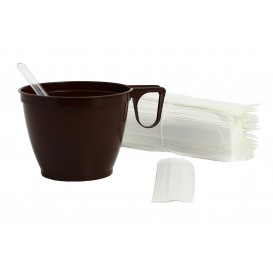 Plastic Coffee Stirrer PS Wrapped Clear 9cm (9500 Units)