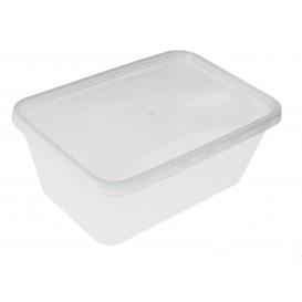 Plastic Deli Container PP Rectangular Shape 1000ml (500 Units)