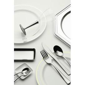 Plastic Knife Metallized 20cm (500 Units)