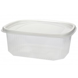 Plastic Hinged Deli Container Microwavable PP 1000ml (50 Units)