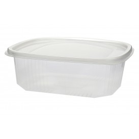 Plastic Hinged Deli Container Microwavable PP 500ml (600 Units)