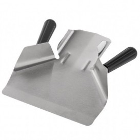 French Fries Scoop Steel 2 Handle Stainless Silver 20x22,5x5 cm (1 Unit)
