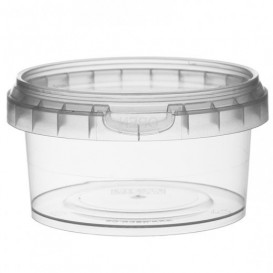 Plastic Deli Container with Plastic Lid PP Tamper-Evident 210 ml Ø9,5 (494 Units)