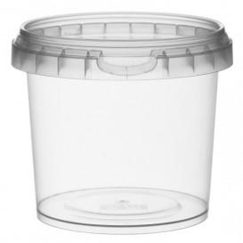 Plastic Deli Container with Plastic Lid PP Tamper-Evident 365 ml Ø9,5 (24 Units)