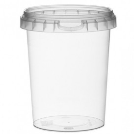 Plastic Deli Container with Plastic Lid PP Tamper-Evident 520 ml Ø9,5 (19 Units)