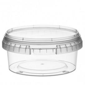Plastic Deli Container with Plastic Lid PP Tamper-Evident 300 ml Ø11,8 (34 Units)