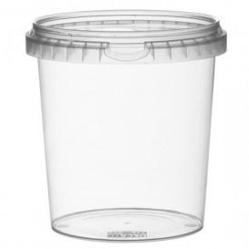 Plastic Deli Container with Plastic Lid PP Tamper-Evident 870 ml Ø11,8 (228 Units)