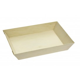 Wooden Tray 15,5x8,5x2,8cm 250ml (25 Units)