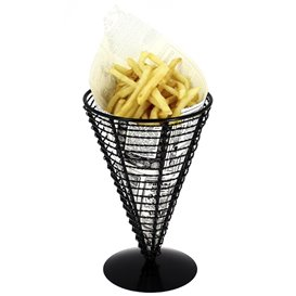 Serving Basket Containers Steel Ø12,8x18cm (6 Units)