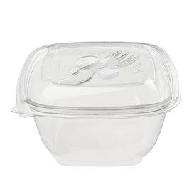 Plastic Bowl PET Square Shape 375ml 125x125x50mm (500 Units)