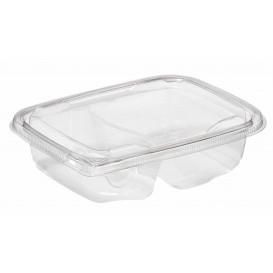 Plastic Deli Container PET Tamper-Evident 2C 200/300ml 18x14x4cm (65 Units)