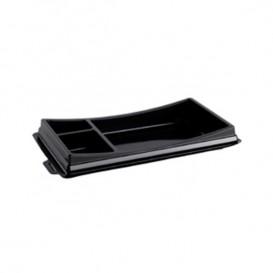 Plastic Sushi Container PET Black 19,9x11,3cm (720 Units)