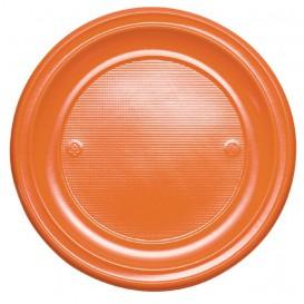 Plastic Plate PS Flat Orange Ø22 cm (780 Units)