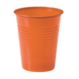 Plastic Cup PS Orange 200ml Ø7cm (50 Units)