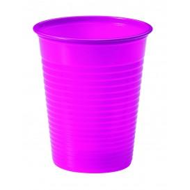 Plastic Cup PS Fuchsia 200ml Ø7cm (50 Units)
