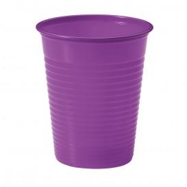 Plastic Cup PS Violet 200ml Ø7cm (50 Units)