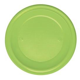 Plastic Plate PS Deep Lime Green Ø22 cm (30 Units)