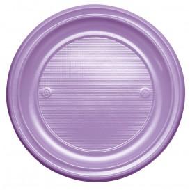 Plastic Plate PS Flat Lilac Ø22 cm (30 Units)