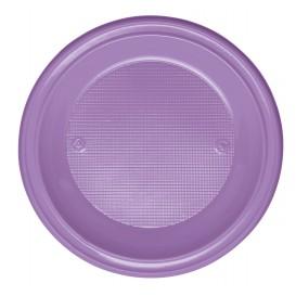Plastic Plate PS Deep Lilac Ø22 cm (30 Units)