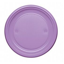 Plastic Plate PS Flat Lilac Ø17 cm (50 Units)