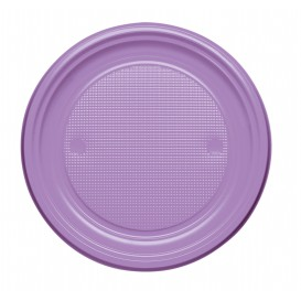 Plastic Plate PS Flat Lilac Ø17 cm (1100 Units)