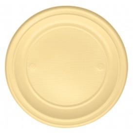 Plastic Plate PS Flat Cream Ø22 cm (780 Units)