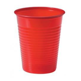 Plastic Cup PS Red 200ml Ø7cm (50 Units)